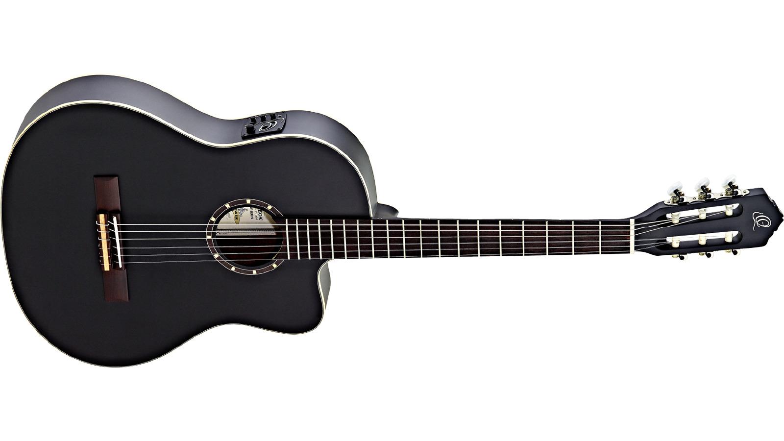 Ortega RCE125SN-SBK Konzertgitarre mit Small Neck inkl. Gigbag