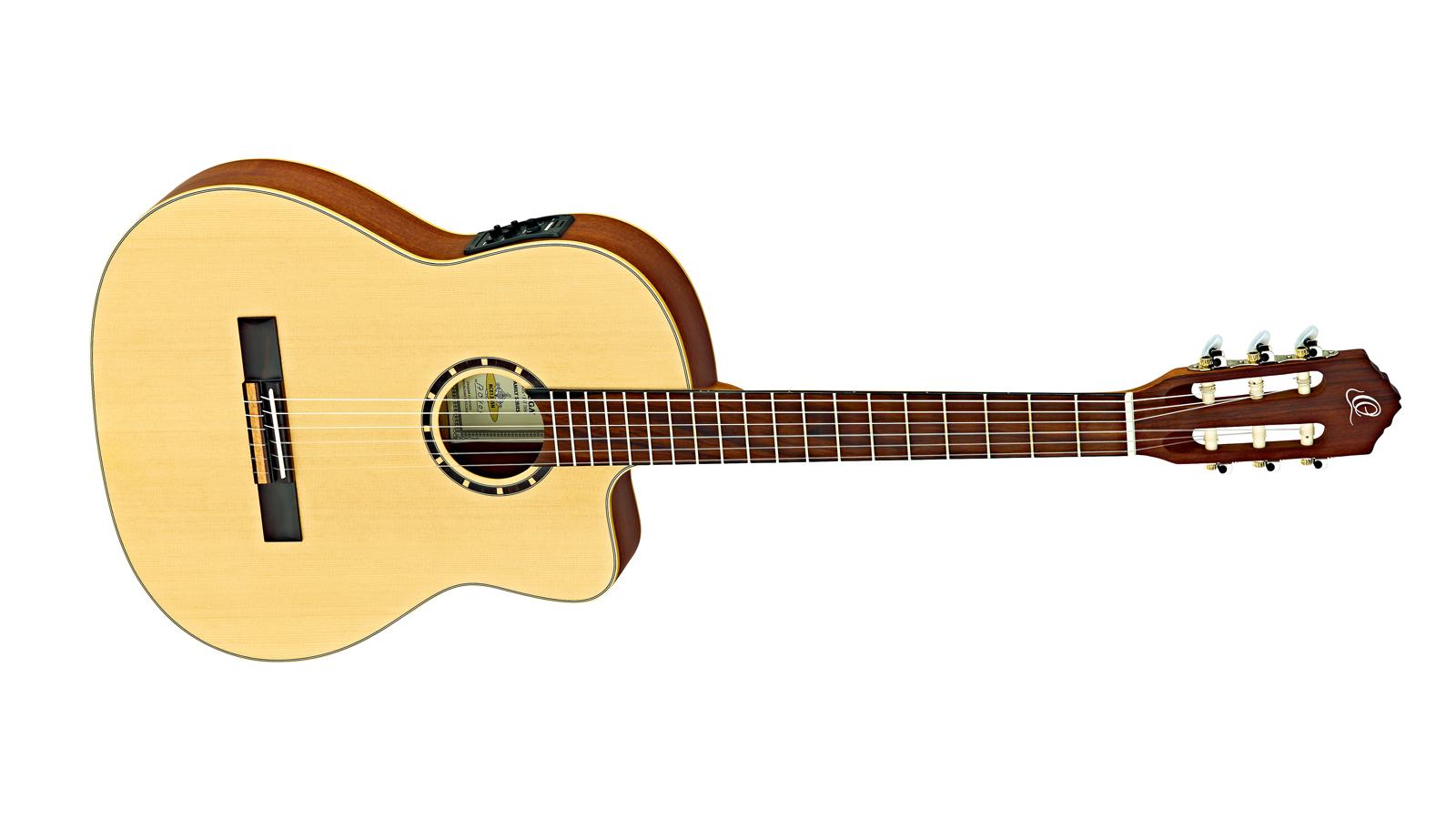 Ortega RCE125SN Thinline Konzertgitarre