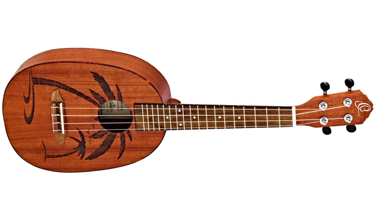 Ortega RUPA5MM-E Pineapple Konzert Ukulele mit Tonabnehmer