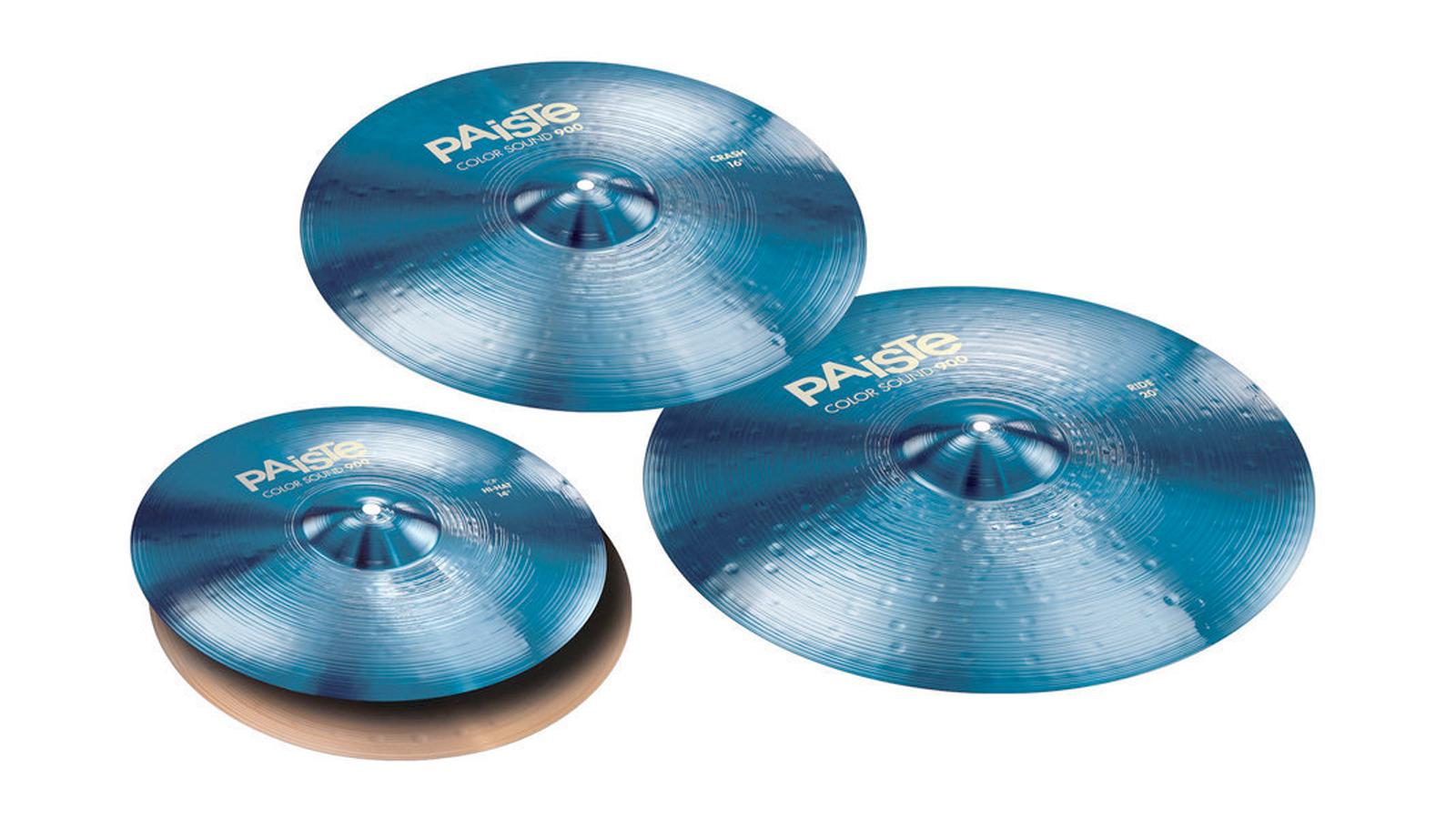 Paiste 900 Color Sound Blau Beckensatz