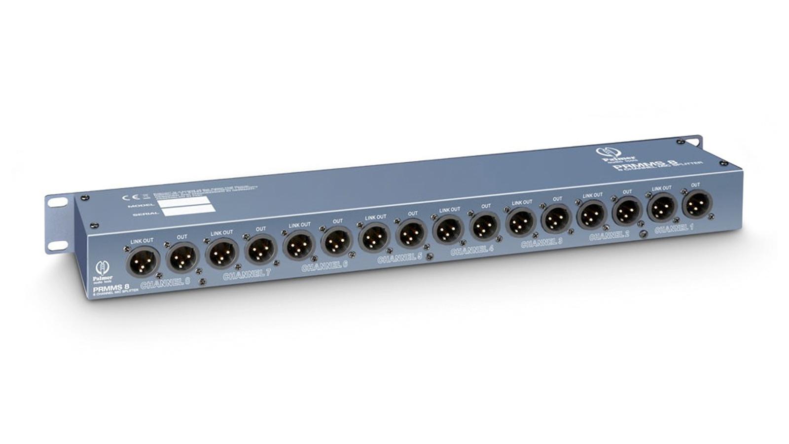Palmer Pro RMMS-8 8-Kanal Mikrofon-Splitter