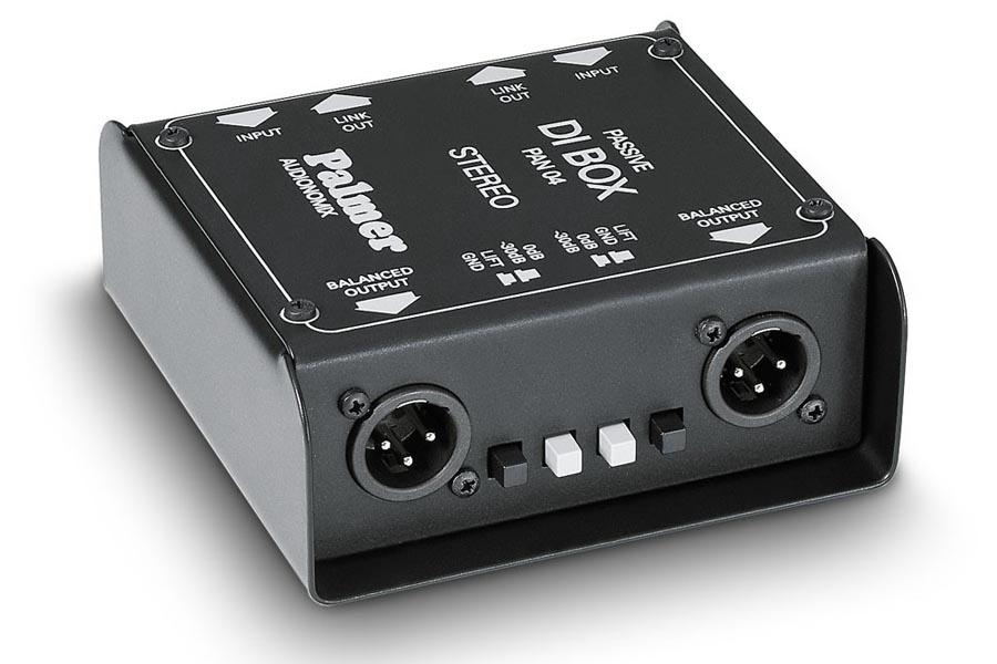 Palmer PAN-4 2 Kanal/Stereo DI-Box passiv