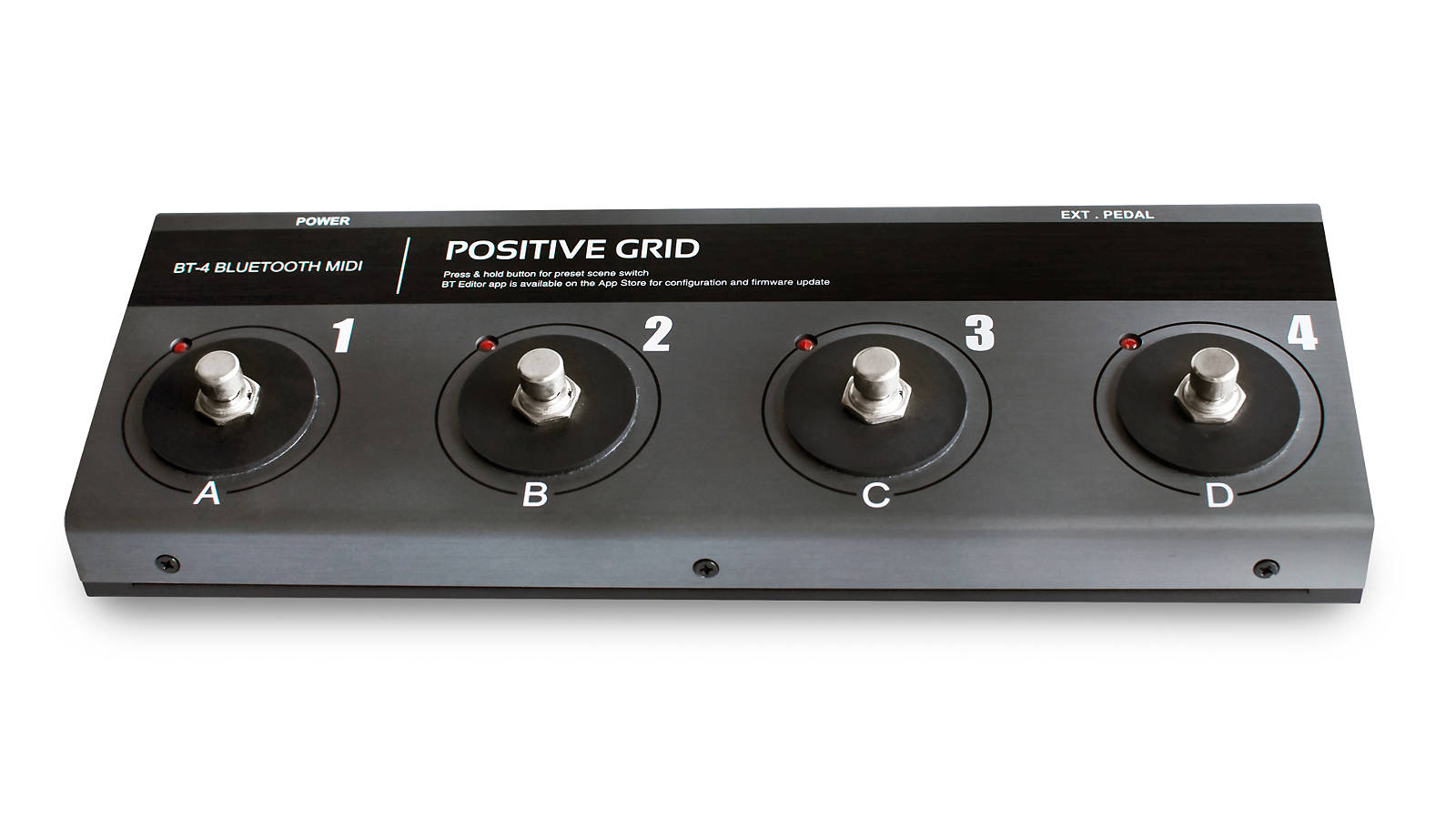 Positive Grid BT4 Bluetooth MIDI 4-fach Fußschalter