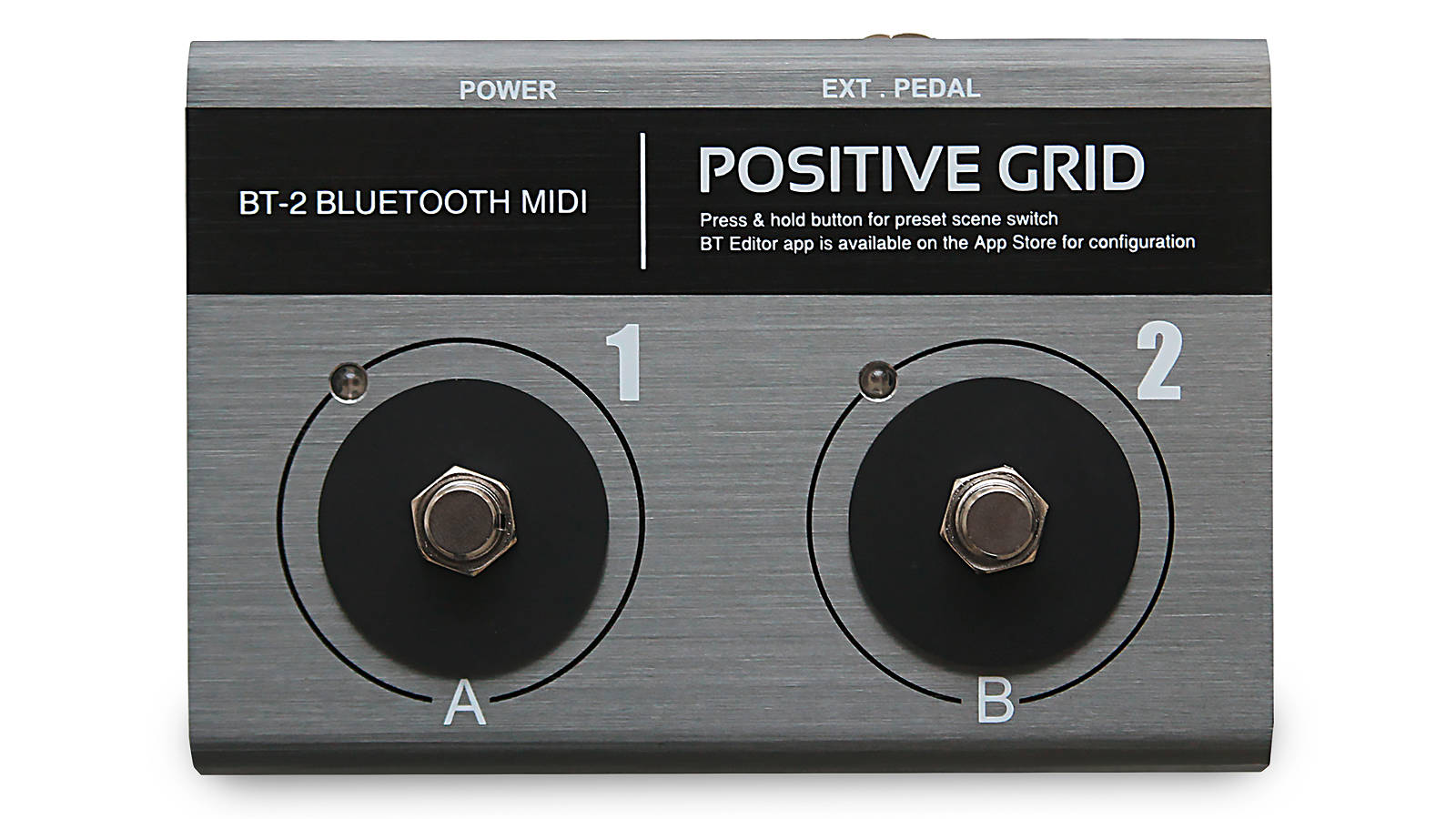 Positive Grid BT2 Bluetooth MIDI 2-fach Fußschalter