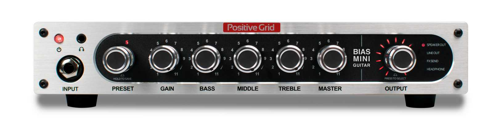 POSITIVE GRID Bias Mini Head Gitarre PGABMG, 300 Watt