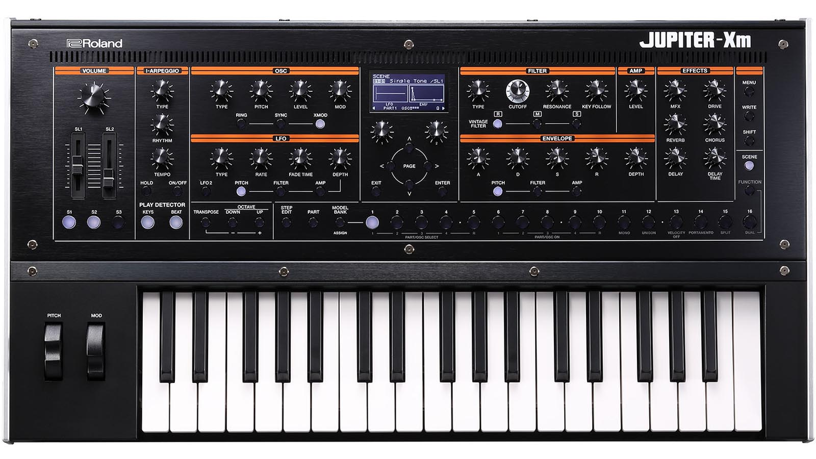 Roland JUPITER-Xm Synthesizer - Rückläufer