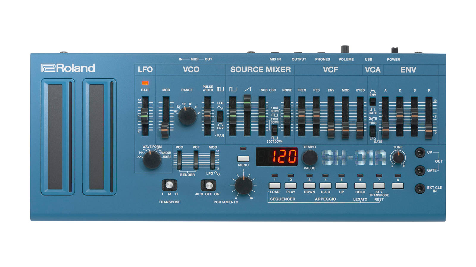 Roland SH-01A Synthesizer Blau