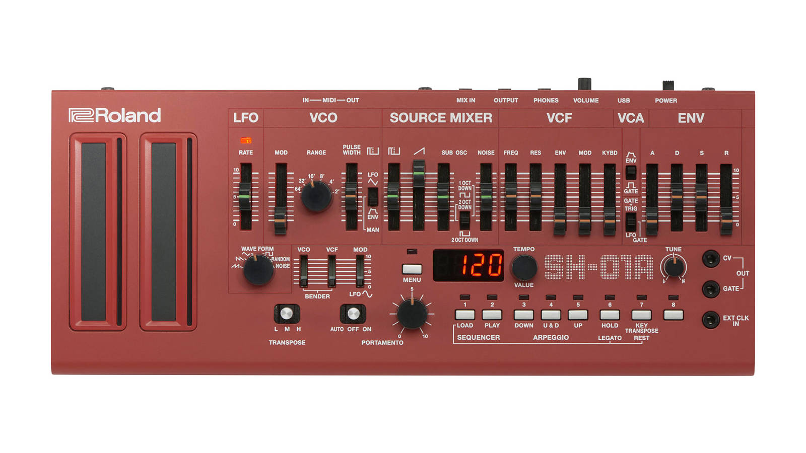 Roland SH-01A Synthesizer Rot