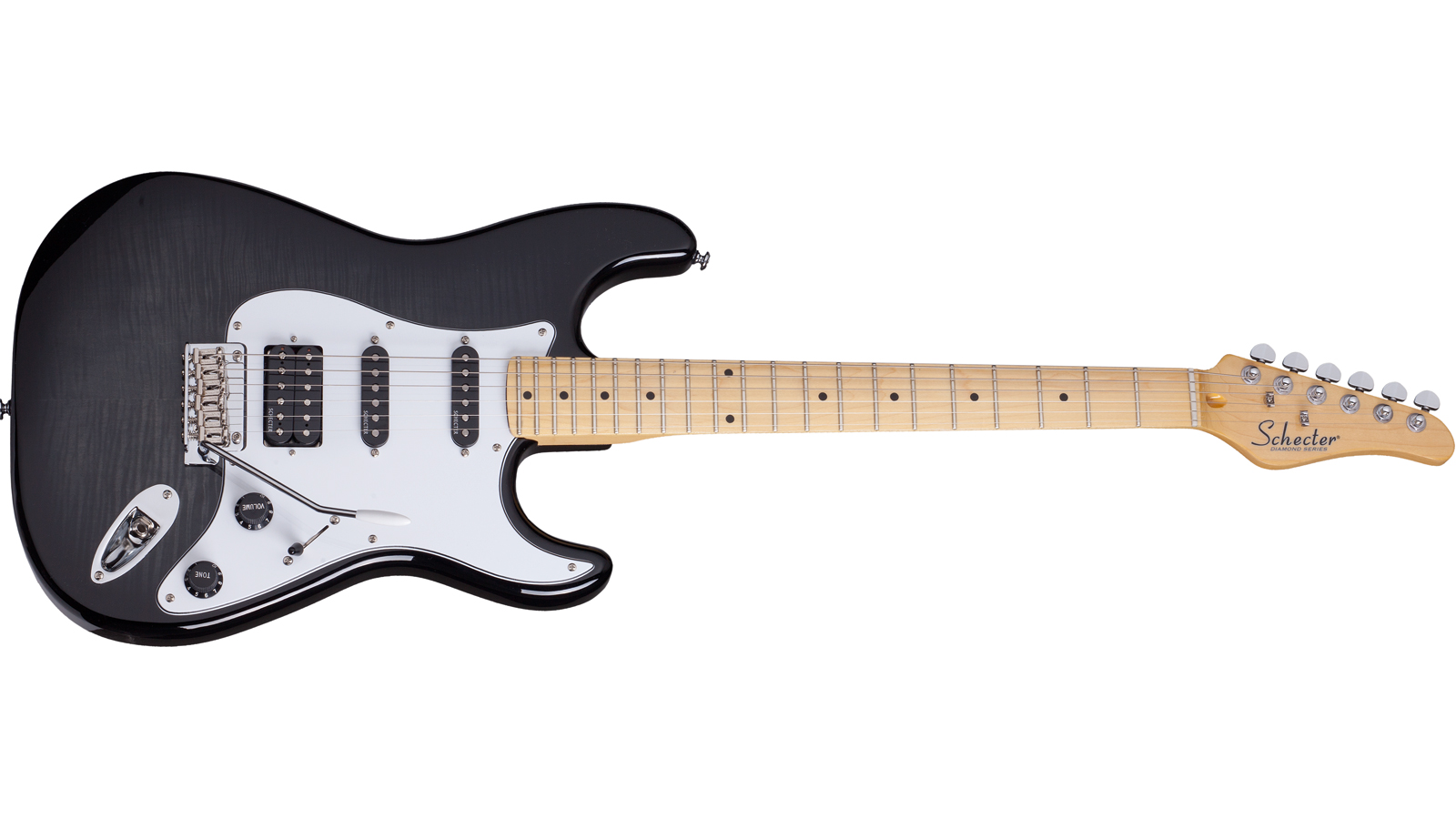 Schecter California Vintage Trad Custom E-Gitarre Trans Black Burst