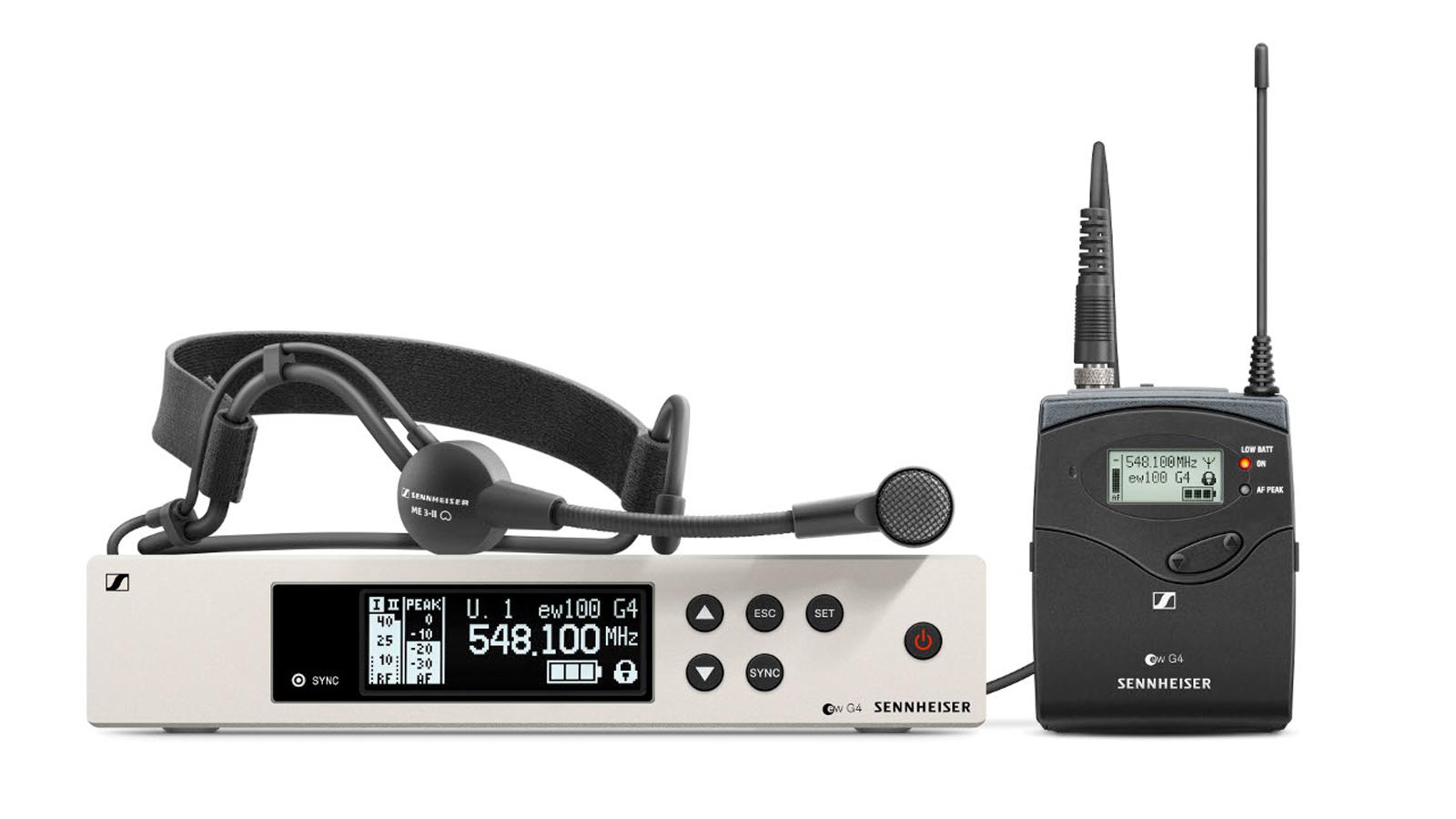 Sennheiser ew 100 G4-ME3 1G8 Headset Funkset
