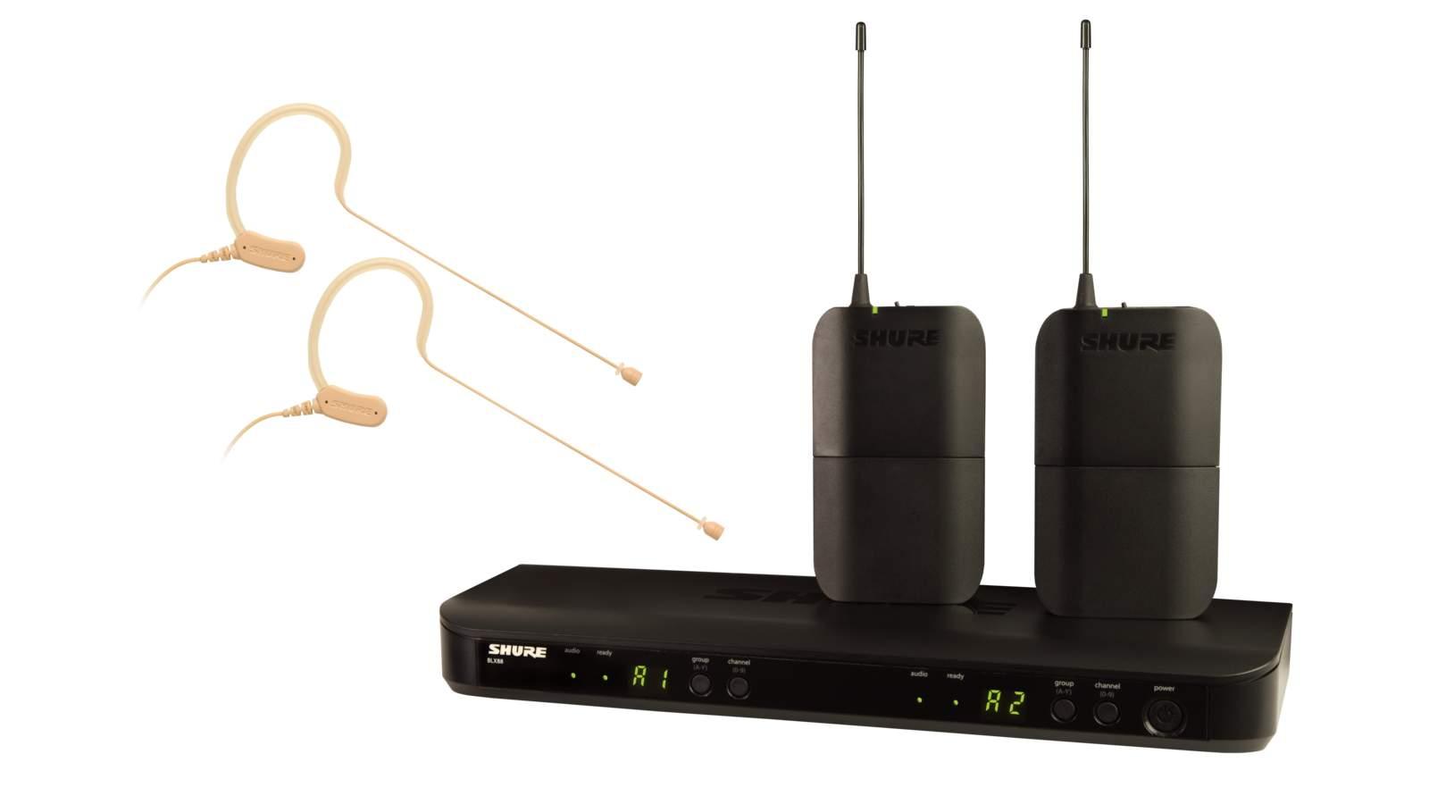 Shure BLX188E/MX53-S8 Dual Ohrbügel Funksystem