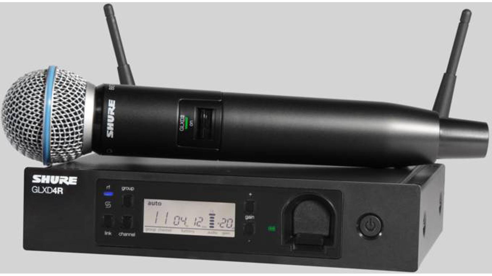 Shure GLXD24R/B58A digitales Funkmikrofon mit Empfänger