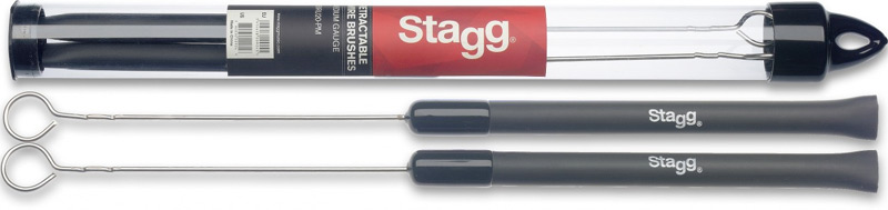 Stagg SBRU20-RM Teleskopische Jazzbesen mit Gummigriff