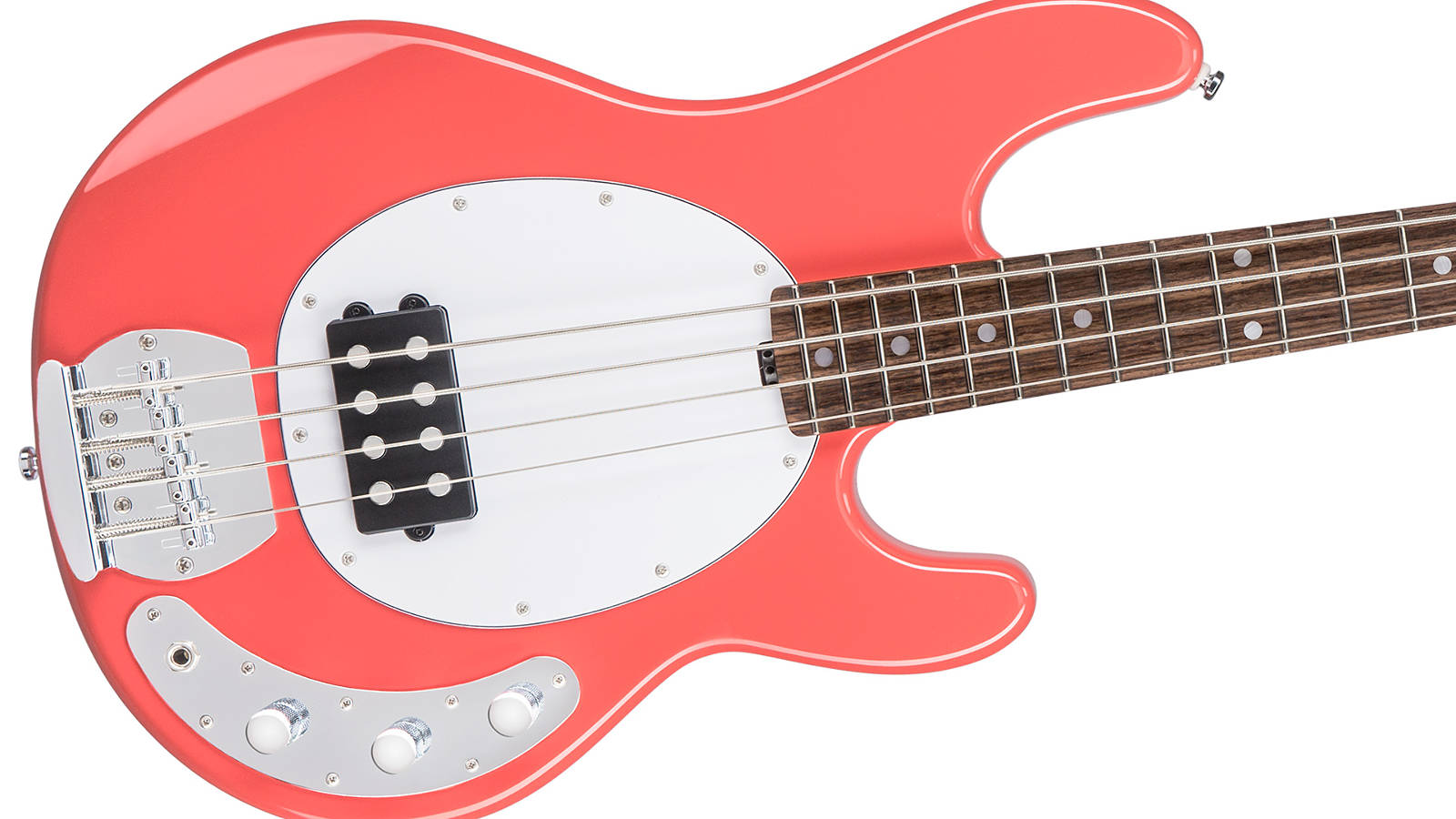 Sterling by Music Man SUB Ray4-FRD E-Bass Fiesta Red