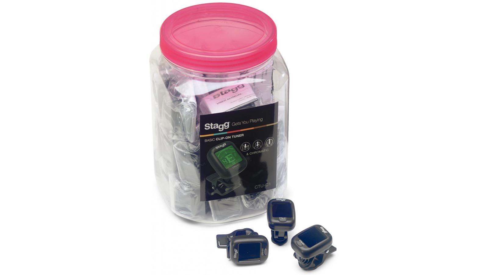 Stagg CTU-C1 chromatischer Clip Tuner schwarz