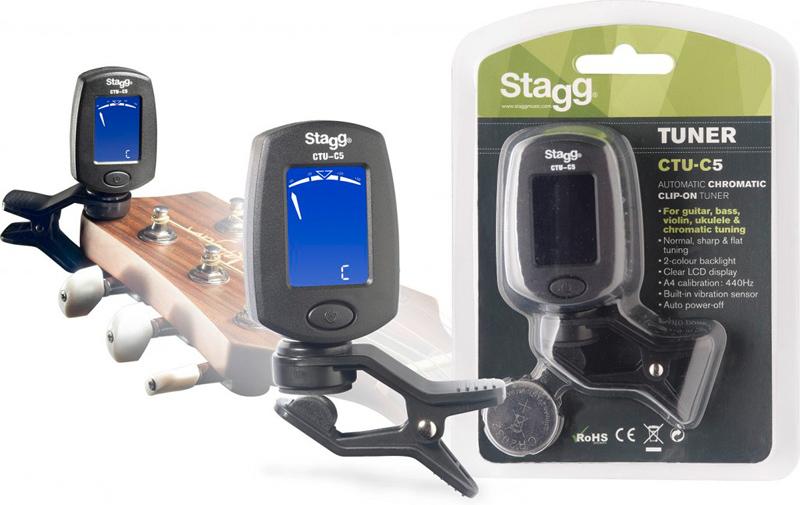 Stagg CTU-C5 BK Chromatischer Clip Tuner