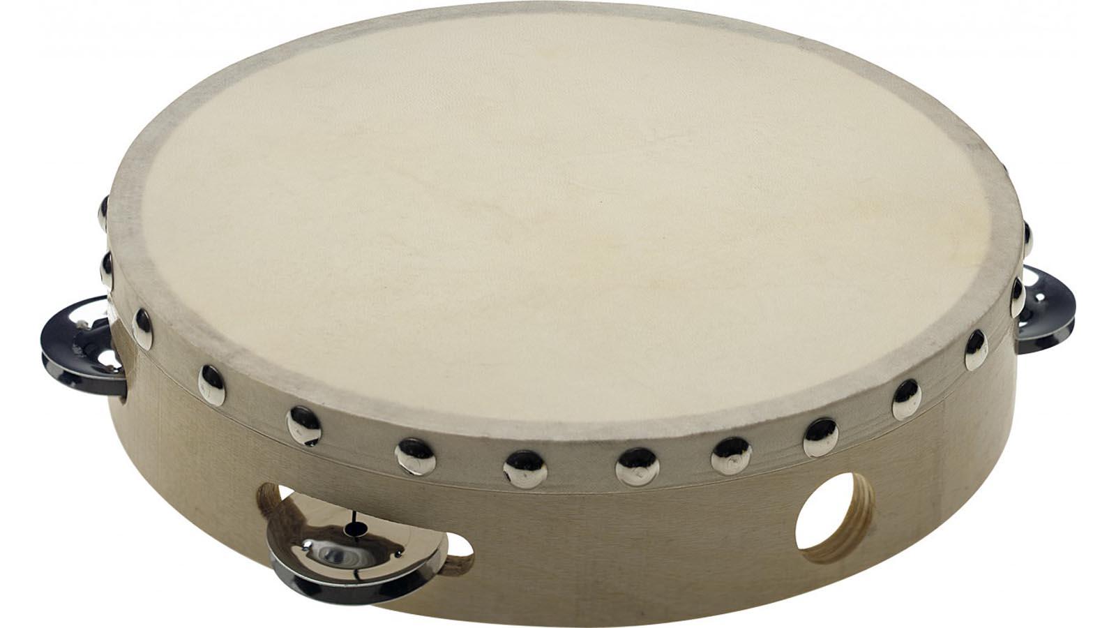 Stagg 8'' Holz-Tamburin mit Fell mit Schellen