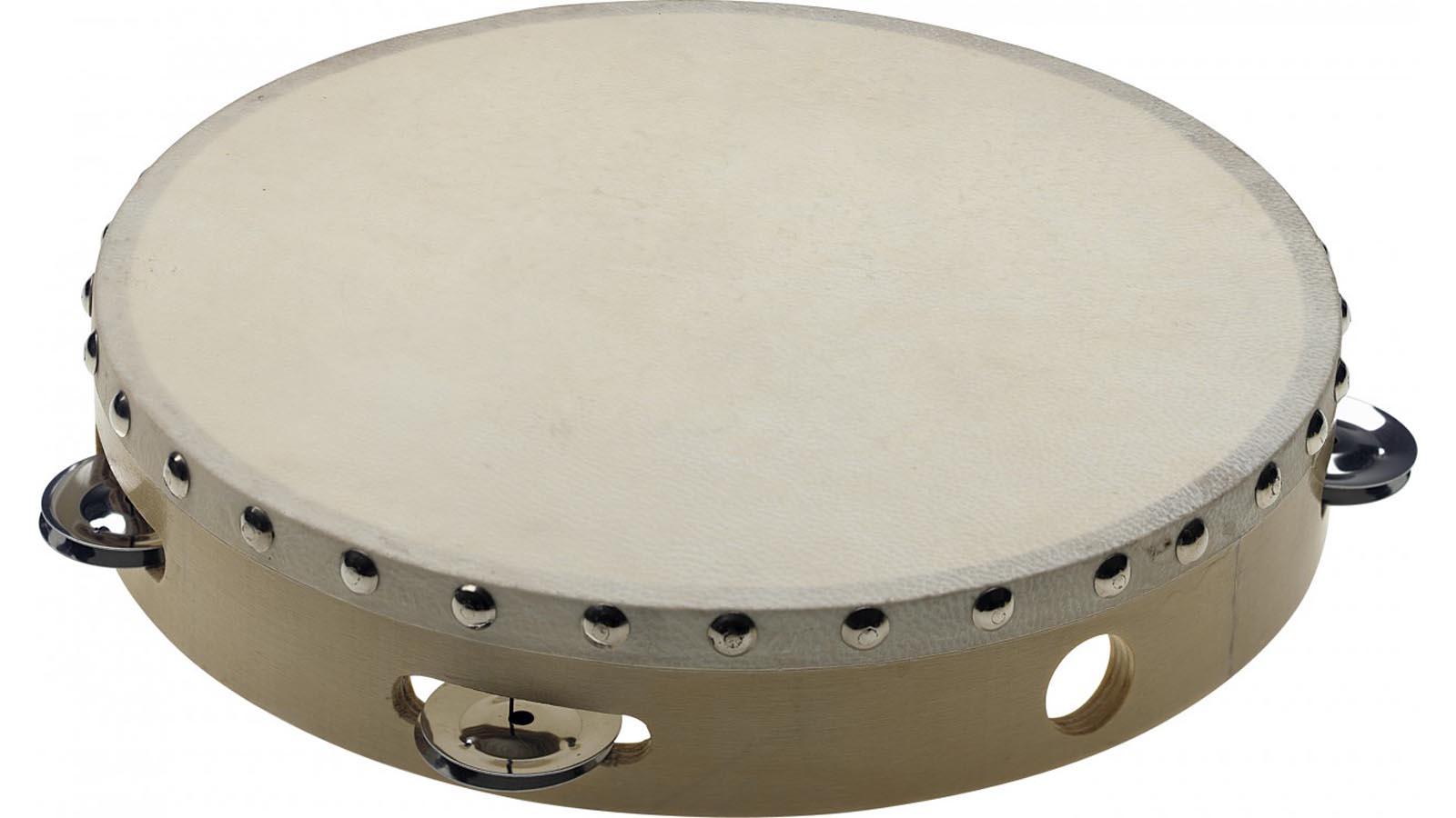 Stagg 10'' Holz-Tamburin mit Fell und Schellen