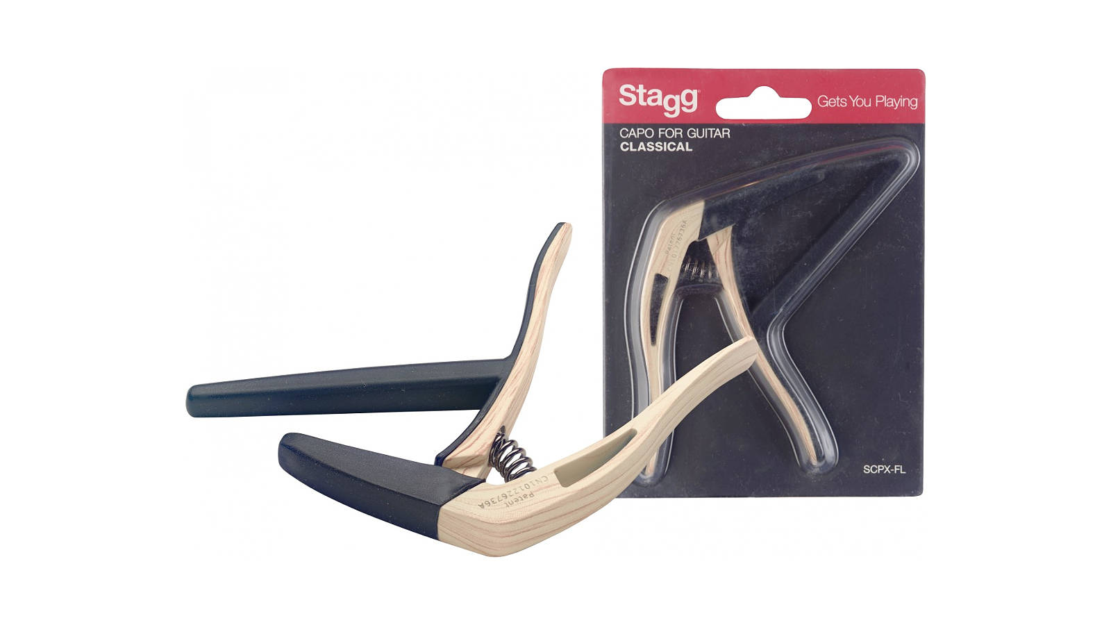 Stagg SCPX-FL CLWOOD flacher Trigger Kapodaster
