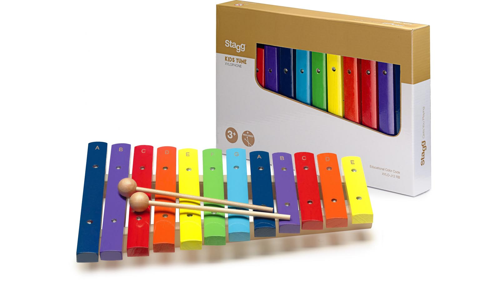 Stagg Xylophone 12 Keys Rainbow Color