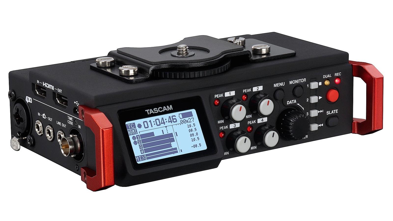 Tascam DR-701D Sechskanal-Audiorecorder für DSLR-Kameras