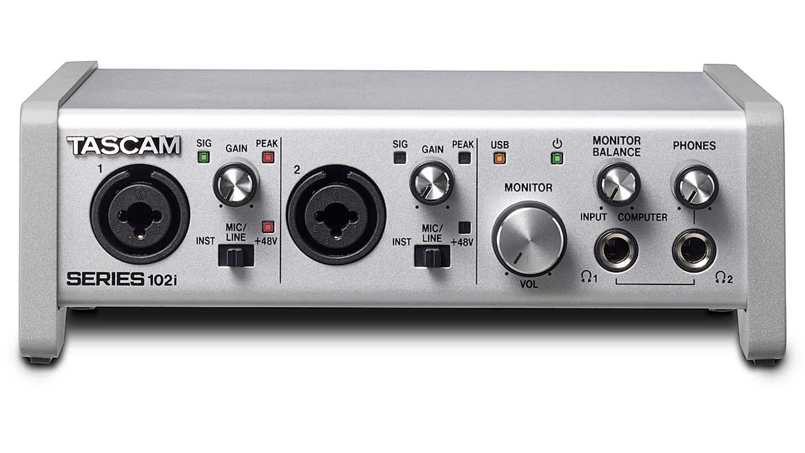 Tascam SERIES 102i USB Interface Audio/MIDI mit DSP-Mixer