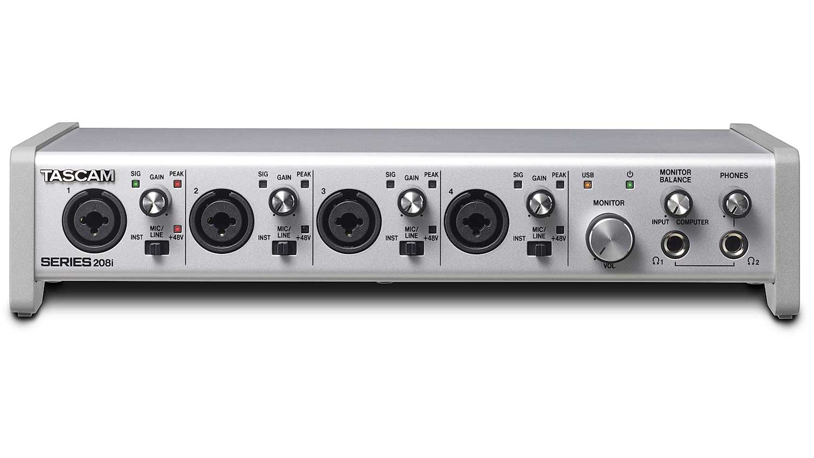 Tascam SERIES 208i USB Interface 20/8 Audio/MIDI mit DSP-Mixer