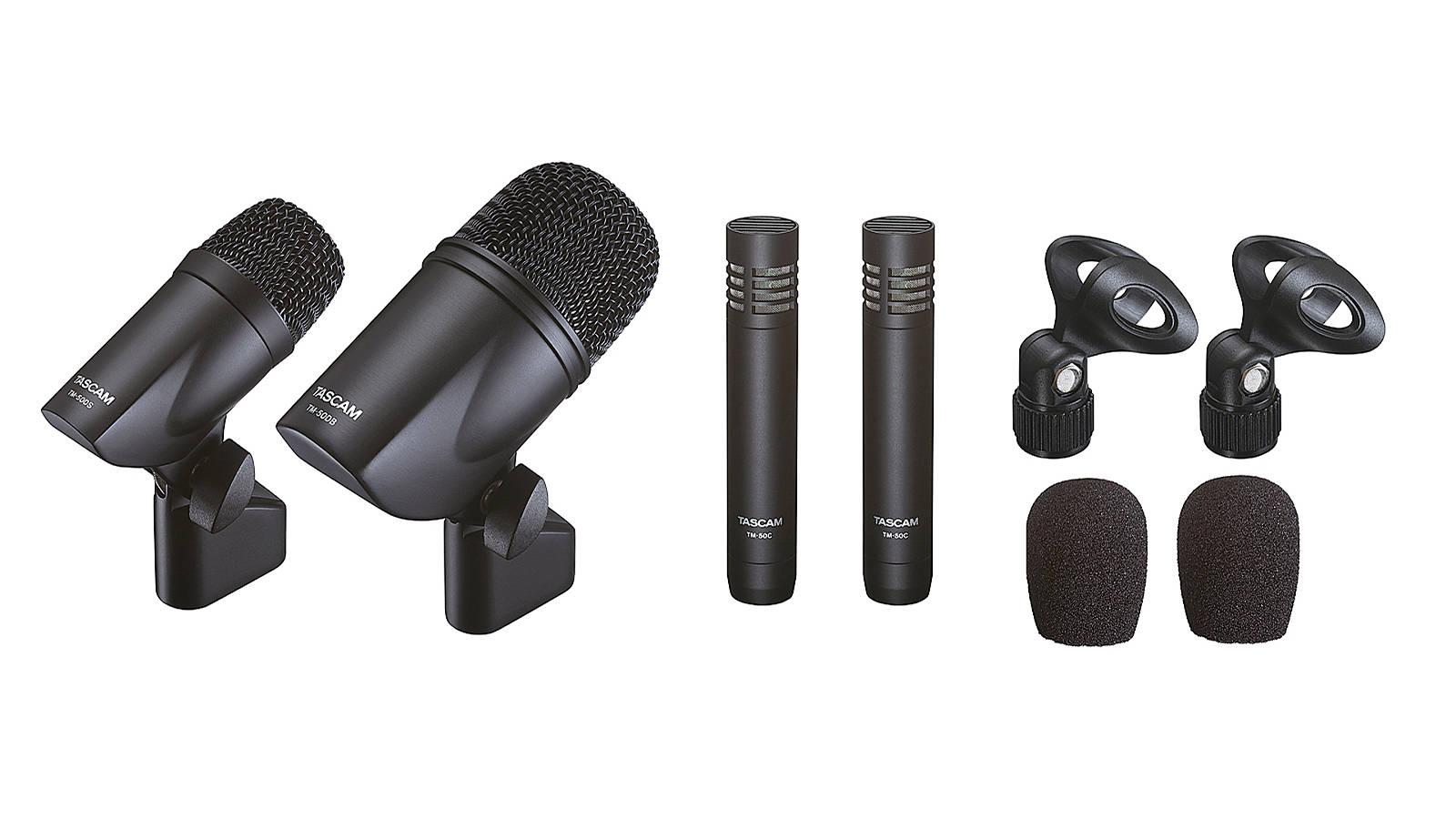 Tascam TM-Drums Mikrofon-Set für Schlagzeug