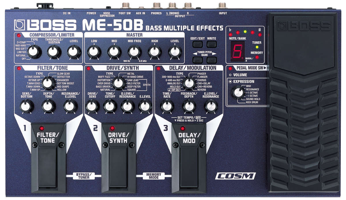 Boss ME-50 B Bass Multi Effects