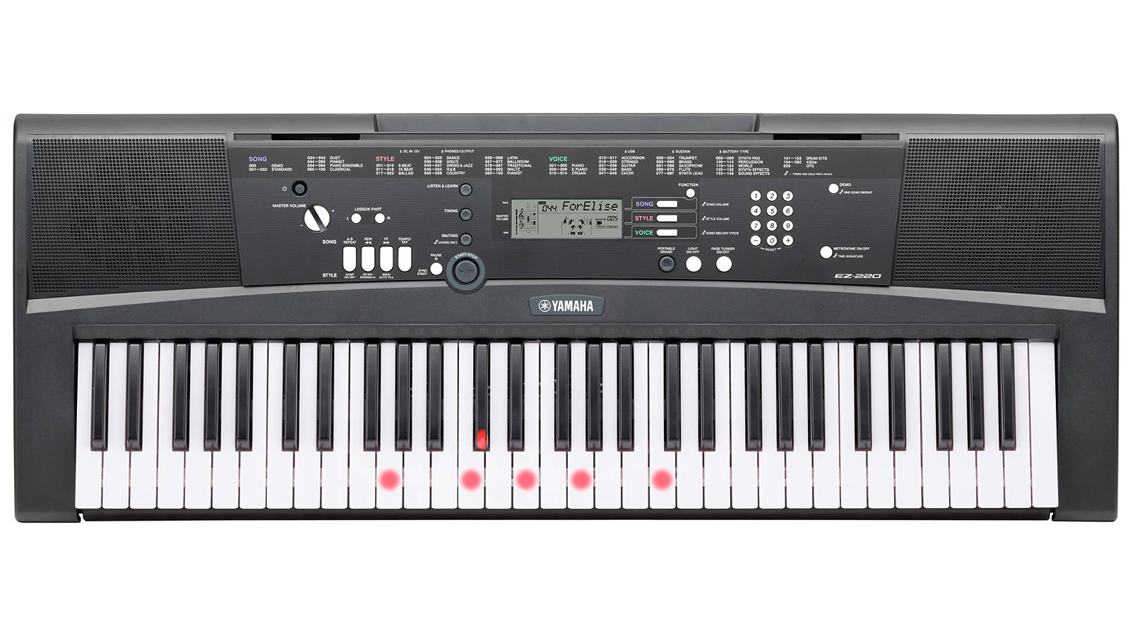 yamaha ez 220 keyboard. Black Bedroom Furniture Sets. Home Design Ideas