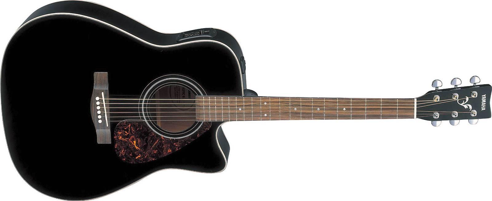 Yamaha FX-370 C Black Akustik Gitarre Dreadnought