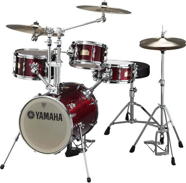 yamaha hipgig compact drum set cherry wood
