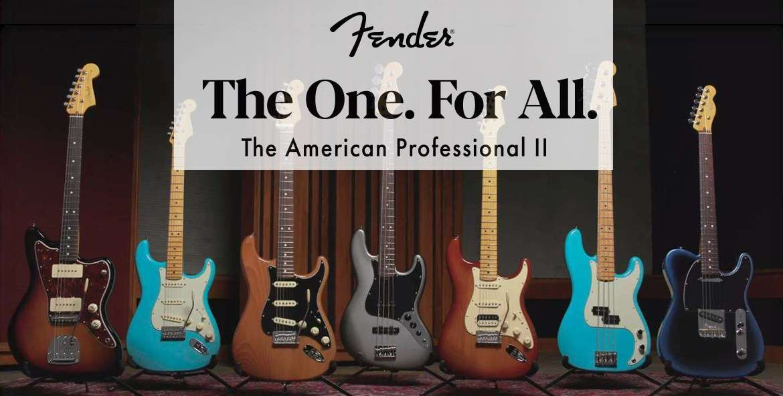 Fender american professional II series Stratocaster Telecaster Jazzmaster Jazz Bass Precision