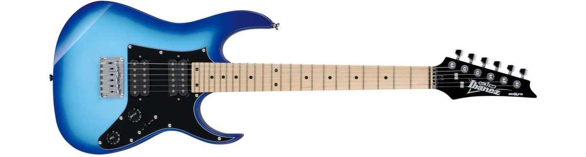 Ibanez neuheit Kindergitarre GRGM21M-BLT Micro E-Gitarre