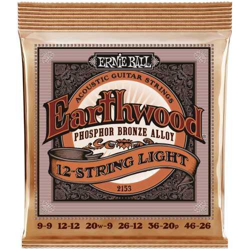 Ernie Ball EB-2153 Akustik Saiten 12-string Phosphor Bronze