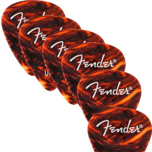 Fender Classic Shell 351 Shape Picks Medium Pack12