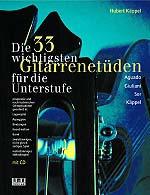 Die 33 wichtigsten Gitarrenetüden inkl. CD