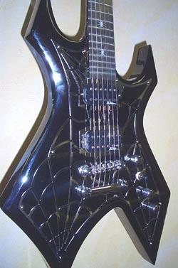 B.C.Rich Metal Web Warlock E-Gitarre Onix