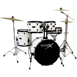 Basix Oxygen OX 209 WH Drumset Weiss