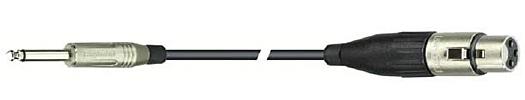 DREITEC Mikrofonkabel Klinke-XLR 5m 17200 SW