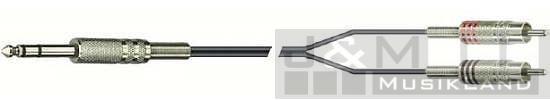 DREITEC Y-Kabel Klinke stereo - 2x Cinch 3,0m