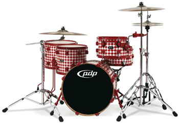 DW PDP 805 Finish Ply Drumset Red Diamond