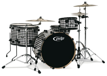 DW PDP 805 Finish Ply Drumset Black Diamond