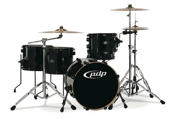 DW PDP 805 Lacquer Drumset schwarz rot