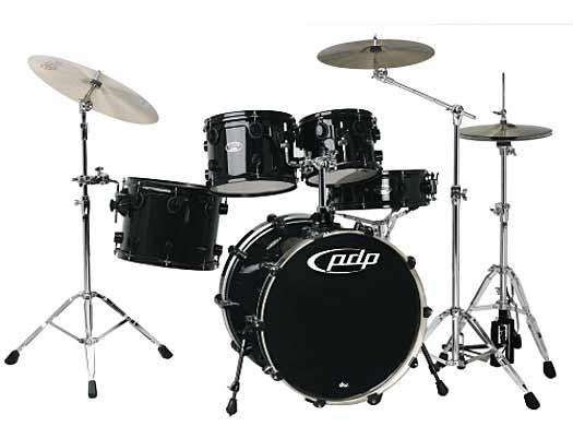 DW PDP BX Drumset Solid Black