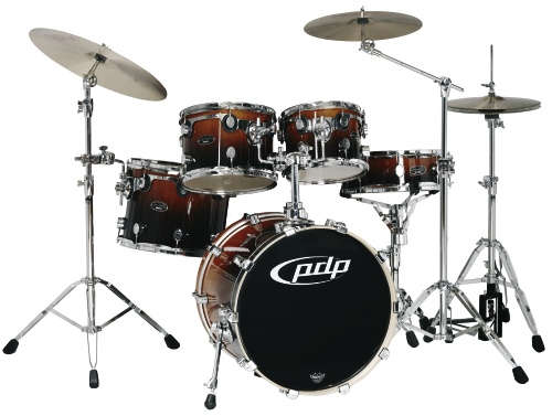 DW PDP BX Fusion Drumset Red Chill Fade