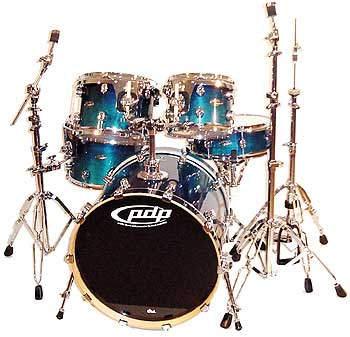 DW PDP FX Drumset Set 2 Blue Fade