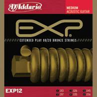 Daddario EXP-12 Satz Acoustic Gitarren Saiten bronze