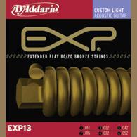 Daddario EXP-13 Satz Acoustic Gitarren Saiten bronze