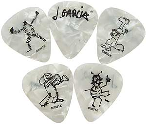Daddario Plectren Set Jerry Garcia heavy white